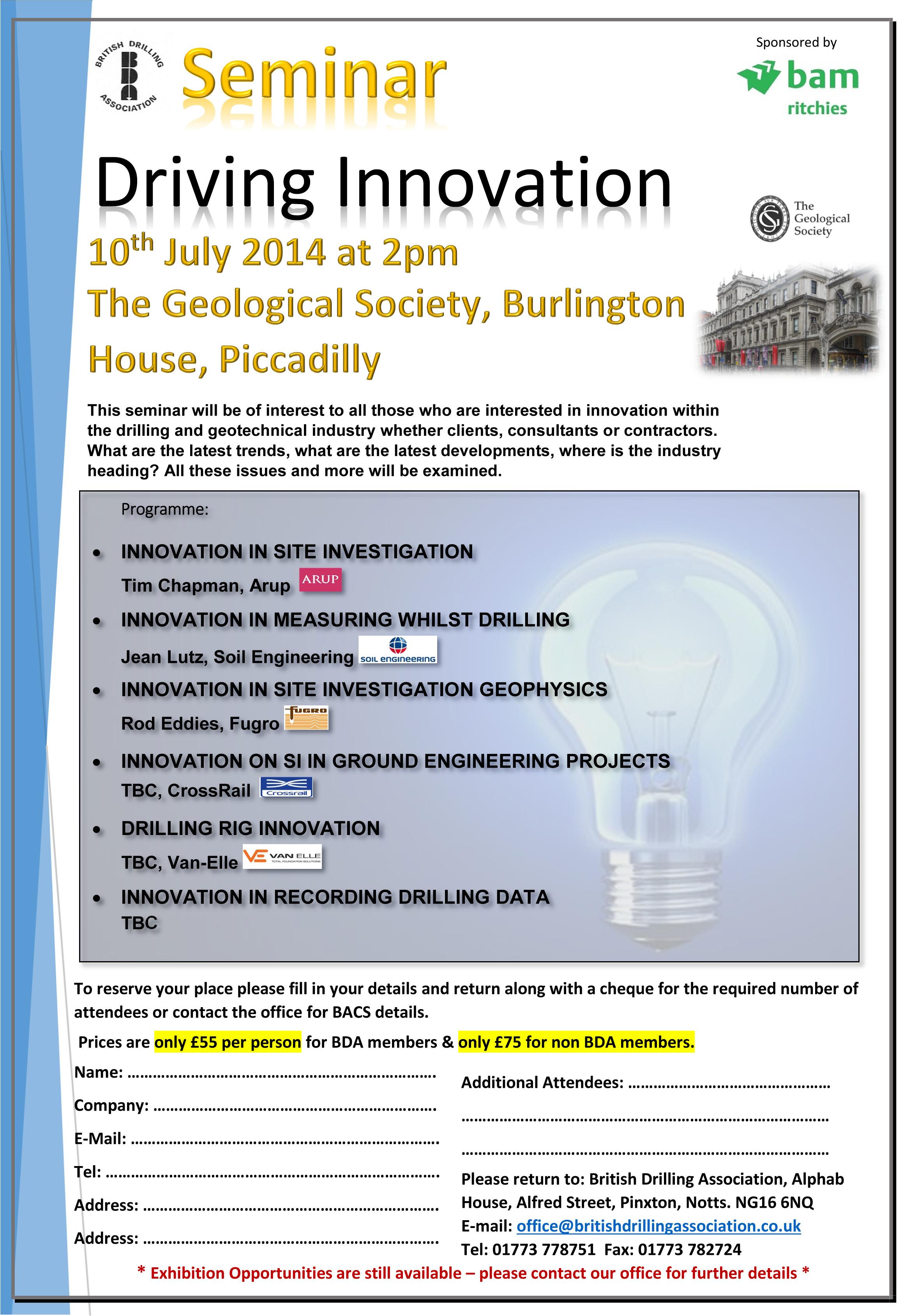 BDA driving innovation seminar