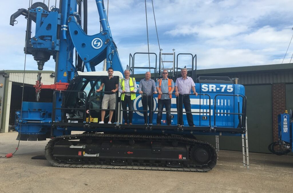Central Piling Take Delivery of New SR-75 CFA Drill Rig