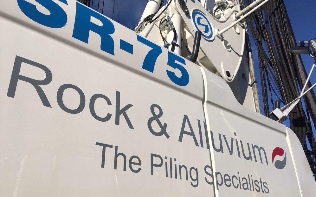 SR-75 CFA Drilling Rig For Rock & Alluvium Ltd