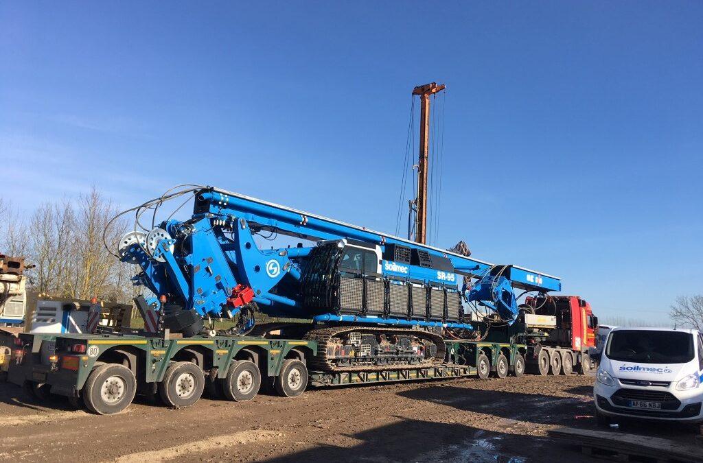 Keller Ltd Take Delivery of New SR-95 CFA Drilling Rig